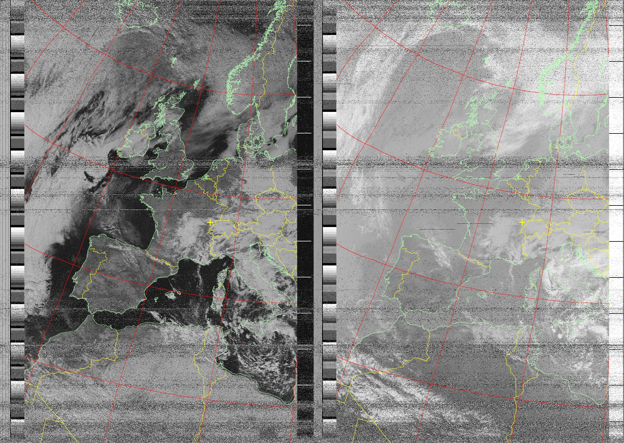 NOAA image with borders